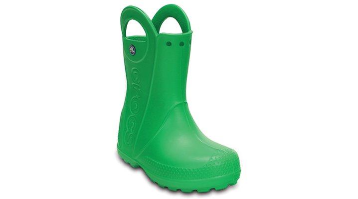 Crocs Grass Green Kids' Handle It Rain Boot Shoes