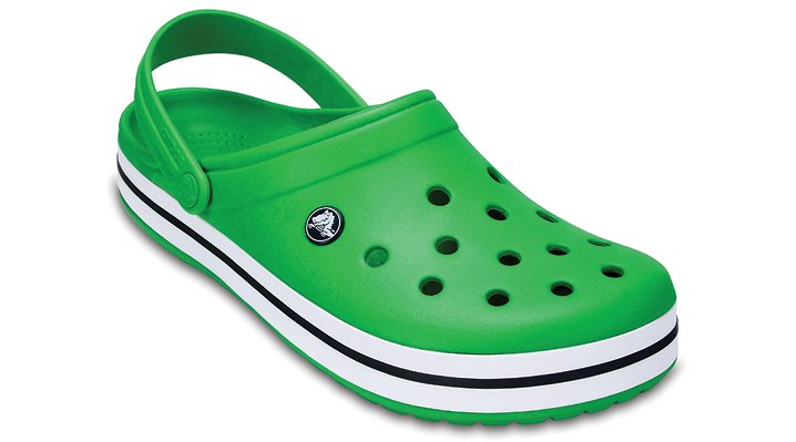 Crocs Grass Green / White Crocband™ Clog Shoes