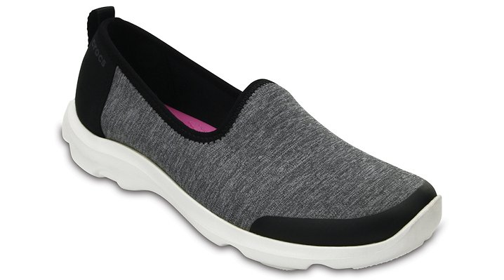 Crocs Grey Women's Busy Day Heather Skimmer Shoes