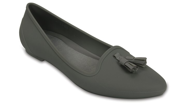 Crocs Grey Women's Crocs Eve Embellished Flat Shoes