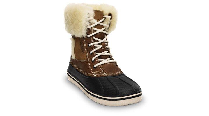 Crocs Hazelnut / Stucco Women's Allcast Luxe Duck Boot Women's Cold Weather Boot