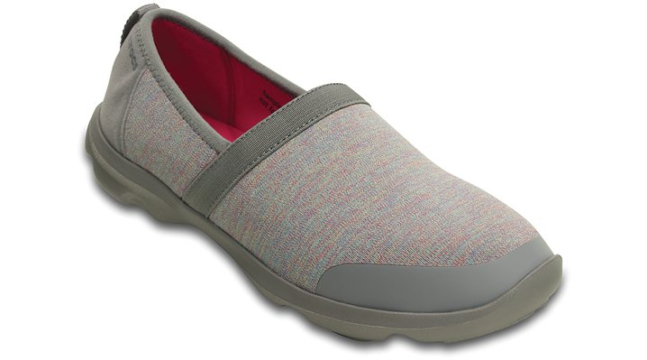 Crocs Heather Grey / Charcoal Women's Duet Busy Day 2.0 Heather A-Line Shoes