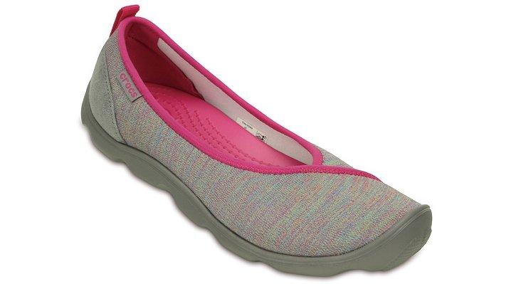 Crocs Heather Grey / Smoke Women's Duet Busy Day Heather Multi Flat Shoes