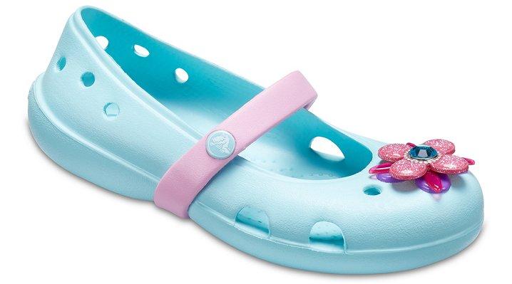 Crocs Ice Blue Kids' Crocs Keeley Springtime Flats Shoes