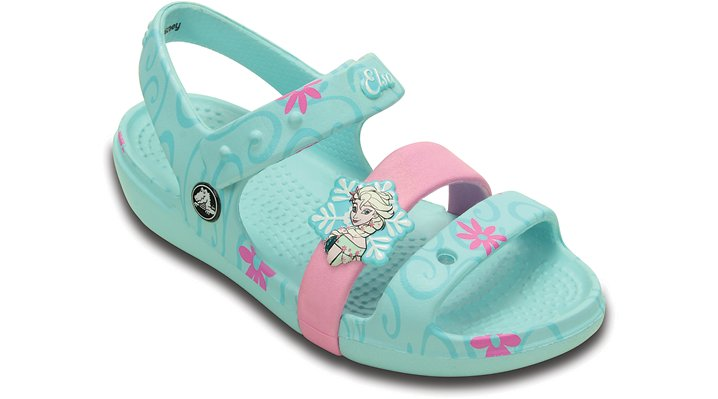 Crocs Ice Blue Kids' Keeley Frozen Fever Sandal Shoes