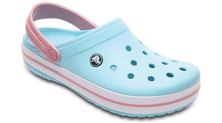 Crocs Ice Blue/White Crocband™ Clog Shoes