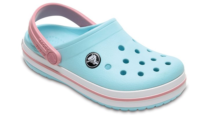 Crocs Ice Blue/White Kids' Crocband™ Clog Shoes