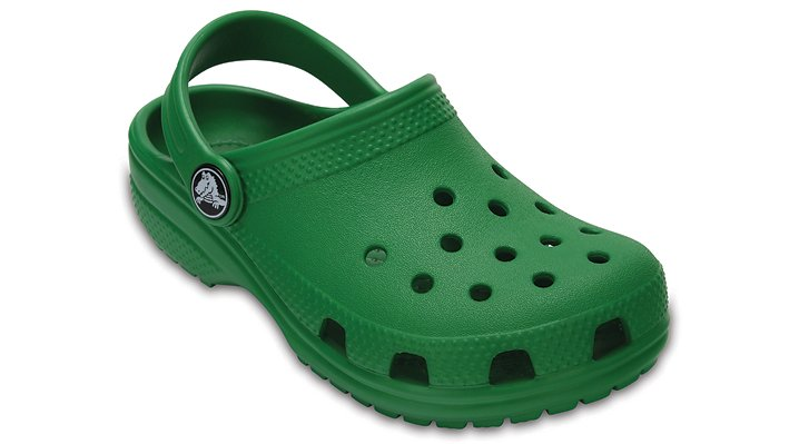 Crocs Kelly Green Kids' Classic Clog Shoes