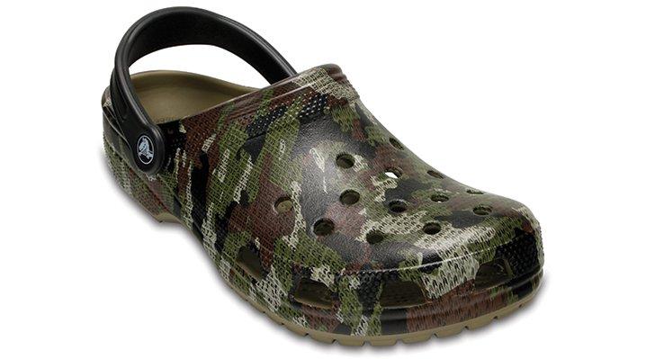 Crocs Khaki Classic Camo Clog Shoes