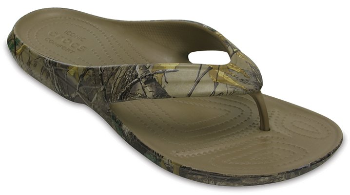 Crocs Khaki Classic Realtree Xtra® Flip Shoes