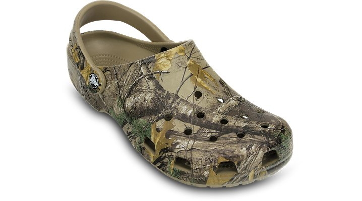 Crocs Khaki Men'S Classic Realtree Xtra® Clog Shoes