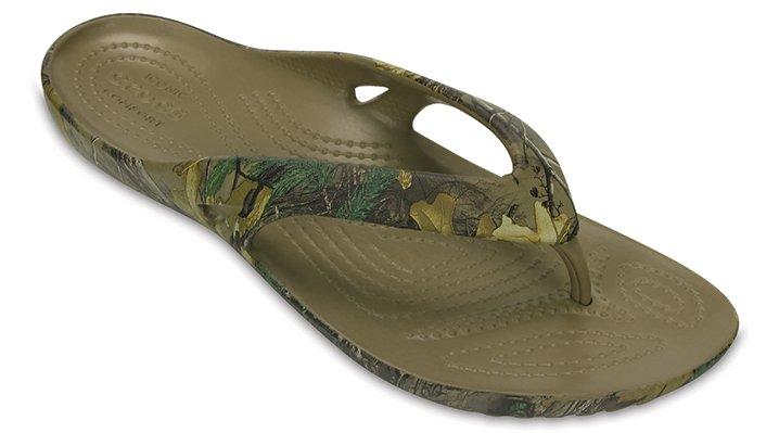 Crocs Khaki Women's Kadee Ii Realtree Xtra® Flip Shoes