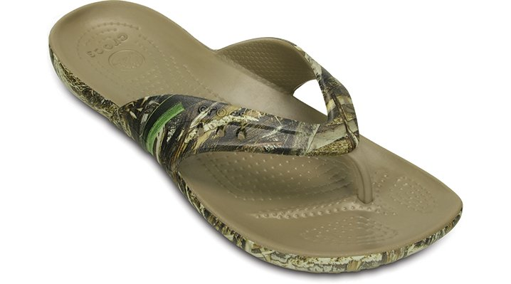 Crocs Khaki Women's Kadee Realtree Max-5® Flip Shoes
