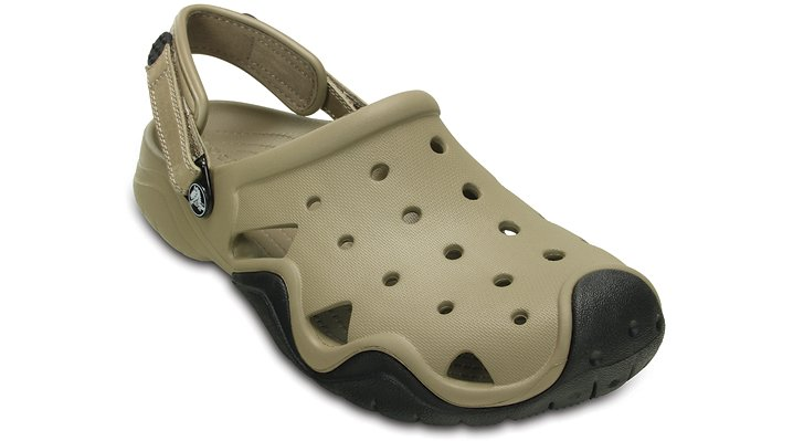 Crocs Khaki / Black Men'S Swiftwater Clog Shoes