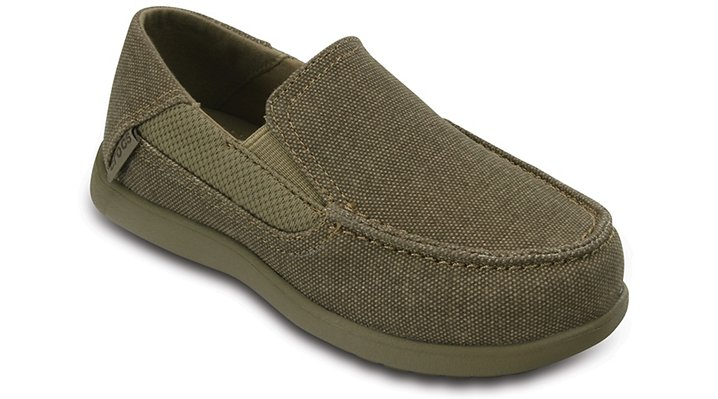 Crocs Khaki / Cobblestone Kids' Santa Cruz Ii Loafer Shoes