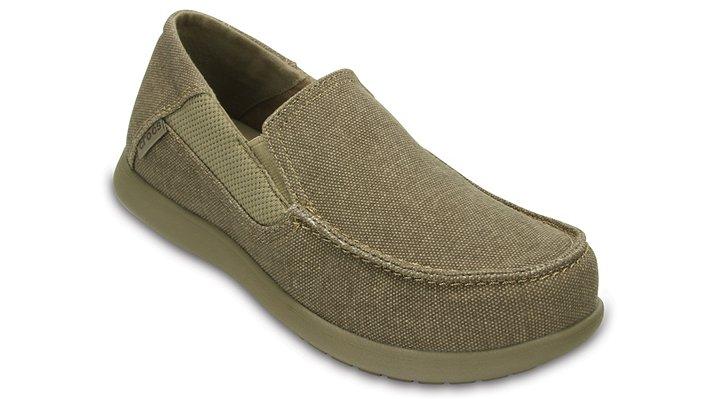Crocs Khaki / Cobblestone Kids' Santa Cruz Ii Loafers Shoes
