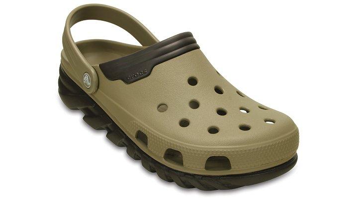 Crocs Khaki / Espresso Duet Max Clog Shoes