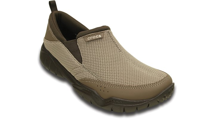Crocs Khaki / Espresso Men'S Swiftwater Mesh Moc Shoes