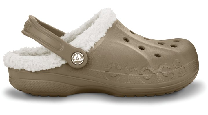 Crocs Khaki / Oatmeal Baya Lined Comfortable Furry Clogs
