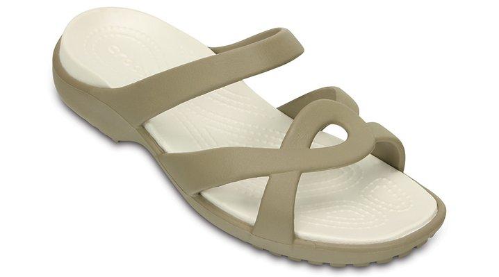 Crocs Khaki / Oyster Women'S Meleen Twist Sandal Shoes 20249724K