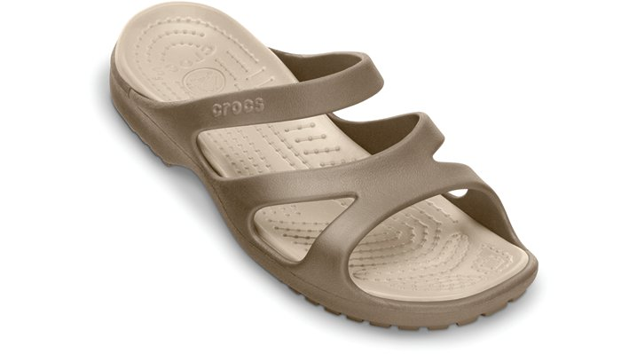 Crocs Khaki / Stucco Meleen Comfortable Women's Slide Sandals