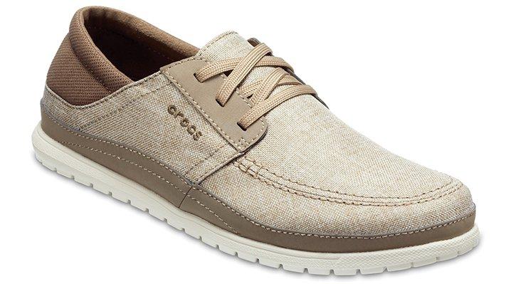 Crocs Khaki / Stucco Men's Santa Cruz Playa Lace-Ups Shoes 20483726P