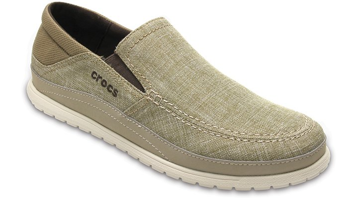 Crocs Khaki / Stucco Men's Santa Cruz Playa Slip-On Shoes
