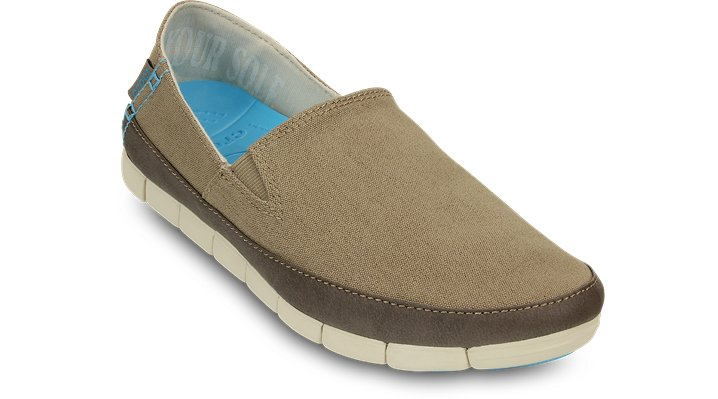 Crocs Khaki / Stucco Women'S Stretch Sole Loafer Shoes