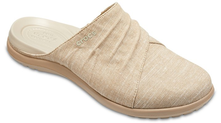 Crocs Khaki / Tumbleweed Women's Capri Mules Shoes 2052772H6