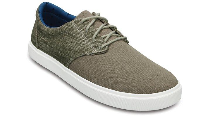 Crocs Khaki / White Men's Citilane Canvas Lace Shoes