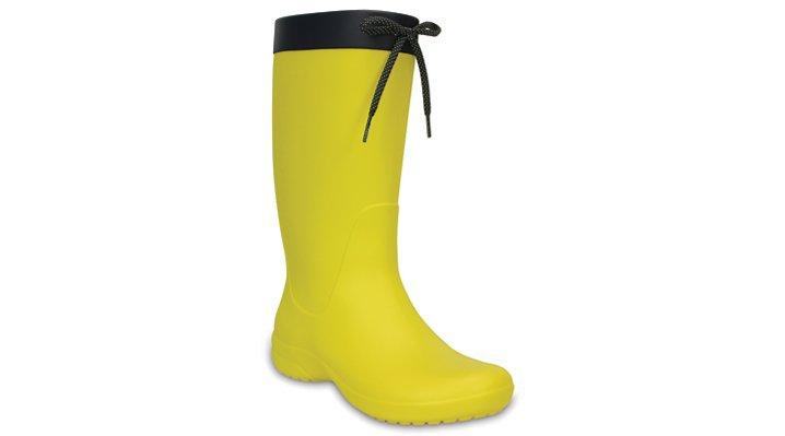 Crocs Lemon Women's Crocs Freesail Rain Boot Shoes