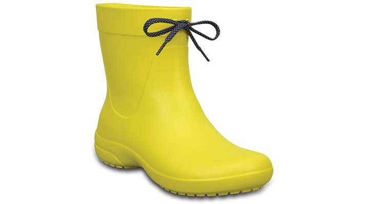 Crocs Lemon Women's Crocs Freesail Shorty Rain Boots Shoes