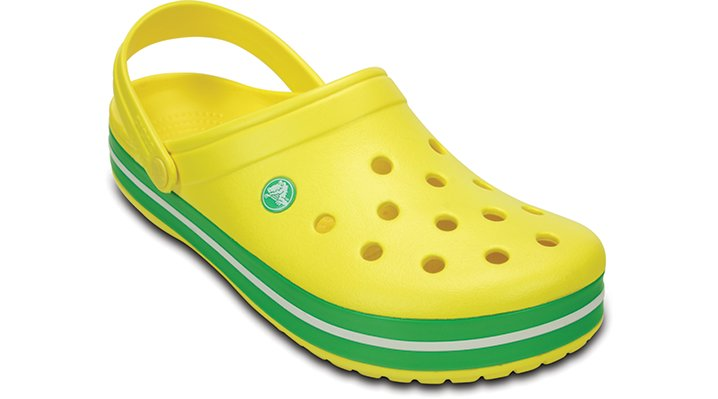 Crocs Lemon / Grass Green Crocband™ Clog Shoes
