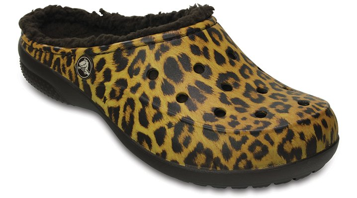 78e1338f8 ... UPC 887350790078 product image for Crocs Leopard Women s Crocs Freesail  Graphic Fuzz Lined Clog Shoes