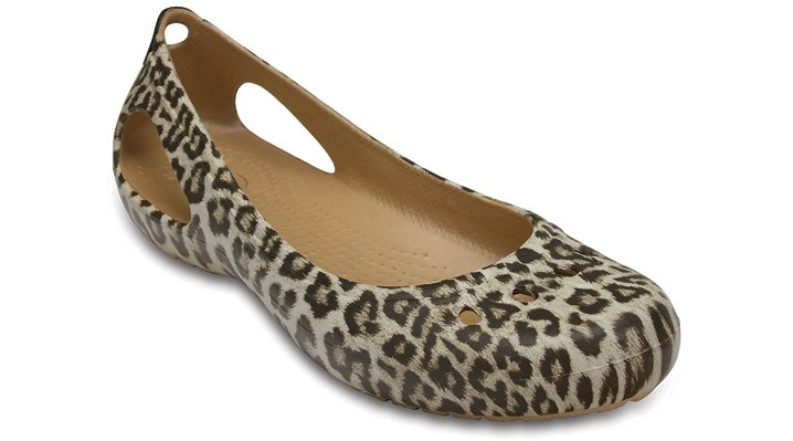 Crocs Leopard Women's Kadee Graphic Flat Shoes