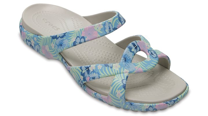 Crocs Light Blue / Tropical Women's Meleen Twist Graphic Sandal Shoes