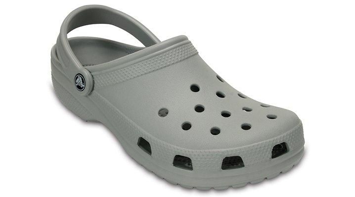 Crocs Light Grey Classic Clog Shoes