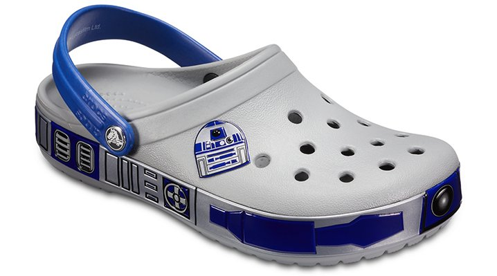 Crocs Light Grey Crocband™ Star Wars™ R2d2™ Clogs Shoes