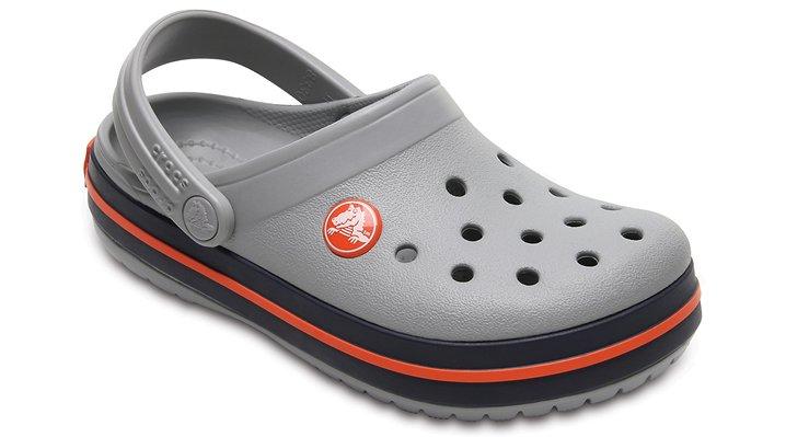 Crocs Light Grey / Navy Kids' Crocband™ Clog Shoes