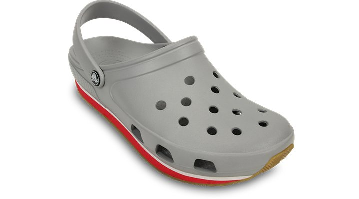 Crocs Light Grey / Red Crocs Retro Clog Bright Colored Clog $ 39.99
