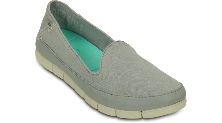 Crocs Light Grey / Stucco Women's Stretch Sole Skimmer Shoes