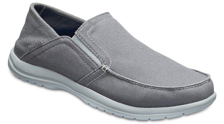 Crocs Light Grey/Slate Grey Men's Santa Cruz Convertible Slip-Ons Shoes