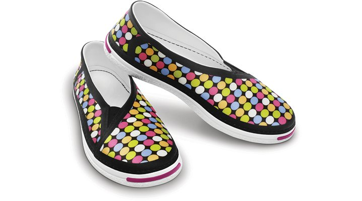 Ocean Minded Light Orange / Pink Waveseeker Pixel Flat Comfortable Women's Slip-On Shoes