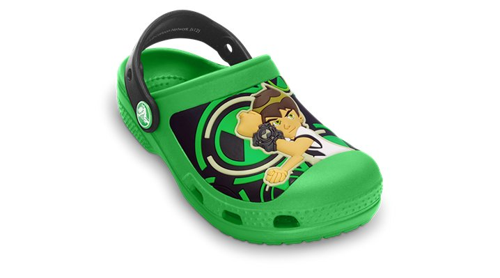 Crocs Lime / Black Creative Crocs Ben 10 Glow-In-The-Dark Clog Shoes $ 34.99