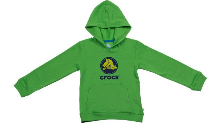 Crocs Lime / Navy Crocs Boys' Pullover Hoodie Shoes