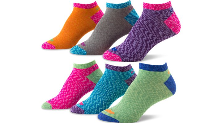 Crocs Lime / Neon Pink Women's No-Show Space Dye Socks Shoes $ 15.99