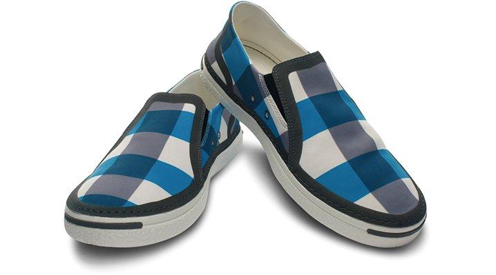 Ocean Minded Mid Grey / Scuba Ocean Minded Men's Waveseeker Flannel Slip-On Shoes