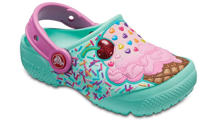 Crocs Mint/Party Pink Kids' Crocs Fun Lab Clogs Shoes