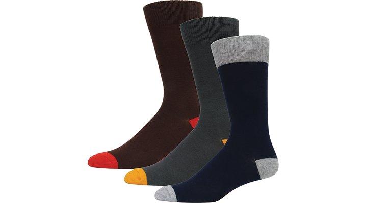 Crocs Multi Color Men'S Dress Socks 3-Pack Shoes