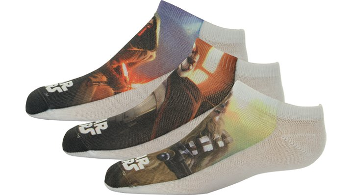 Non Brand Multi Kids' Star Wars Episode Vii Socks 3-Pack Shoes